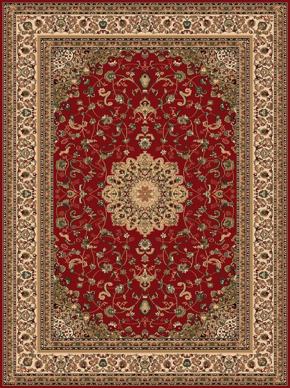 Turkish Rugs Super Belkis 725 Classic Red Rug Turkish